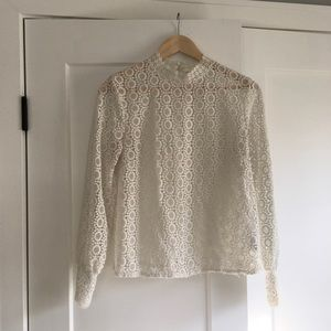 H&M All Over Lace Blouse